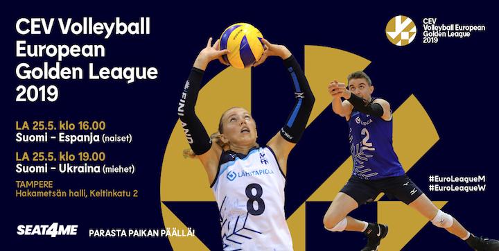 CEV Volleyball European Golden League 2019 Suomi - Espanja, naiset