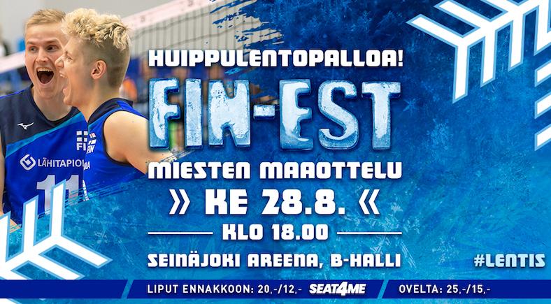 Suomi - Viro lentopallomaaottelu